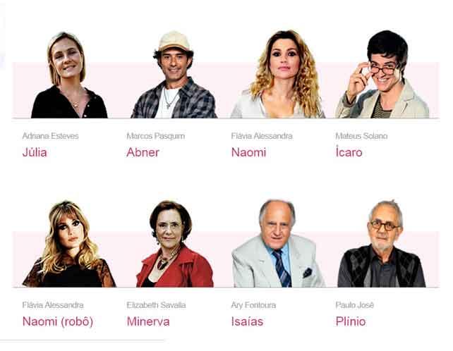 Novelas da Globo - Atores e Personagens da Novela Morde e Assopra