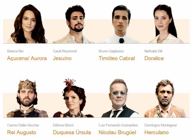 Novelas da Globo - Atores e Personagens da Novela Cordel Encantado