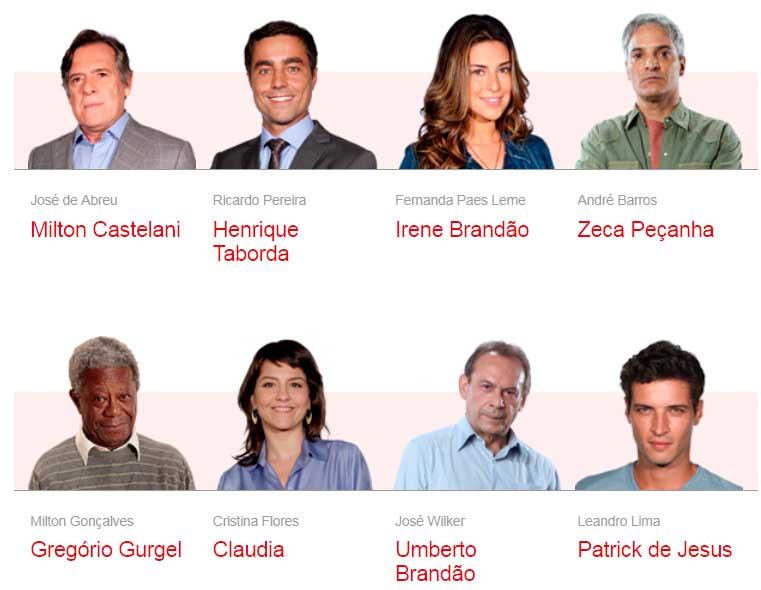 Novelas da Globo - Atores e Personagens da Novela Insensato Coração