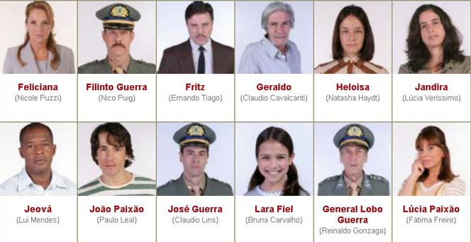 Novelas do SBT - Atores e Personagens da Novela Amor e Revolução