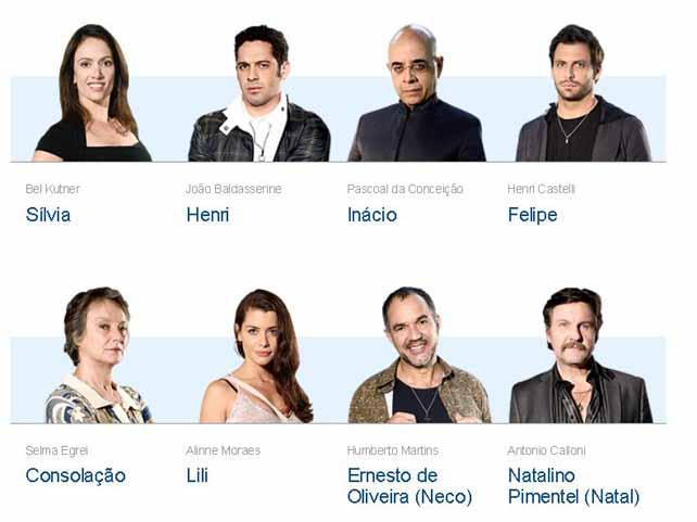 Novelas da Globo - Atores e Personagens da Novela O Astro