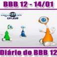 Big Brother Brasil 2012 – Sábado – Dia 14/01 (BBB 12 Parte da Manhã) Manhã começa com preparativos para a Prova do Anjo do BBB 12 e primeiro castigo do […]