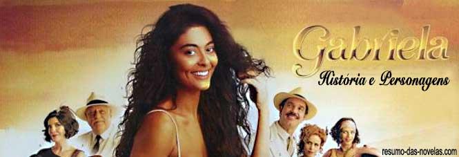 Fique por dentro de todo o elenco de atores e personagens da novela Gabriela 2012