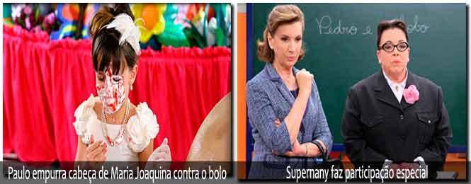 Novela Carrossel 01/06: Supernany faz participação especial, Maria ...